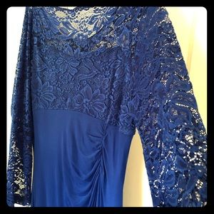 Candalite blue lace formal dress-wedding/prom NWOT